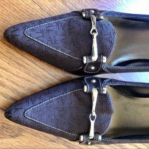 Anne Klein Ak brown heels gold buckle Shoes size 8